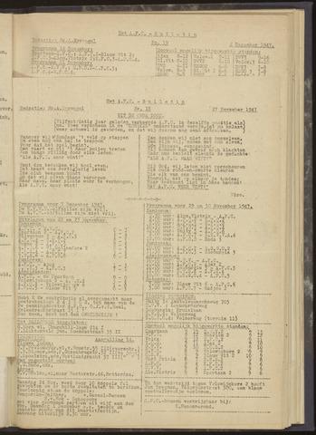 Bulletins (vnl. opstellingen) 1947-11-27