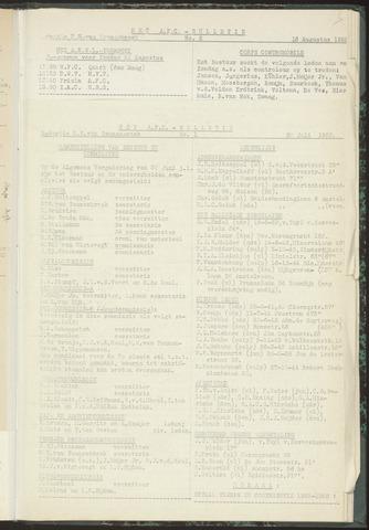 Bulletins (vnl. opstellingen) 1955-07-20