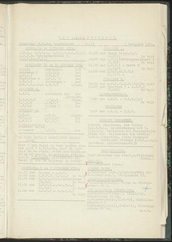 Bulletins (vnl. opstellingen) 1954-11-02