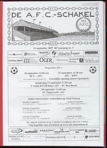Schakels (clubbladen) 2007-09-12
