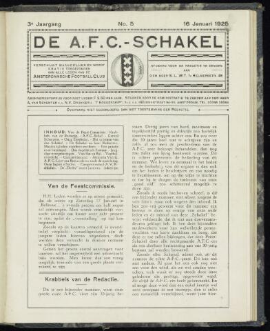 Schakels (clubbladen) 1925