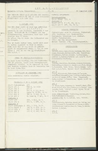 Bulletins (vnl. opstellingen) 1958-12-29
