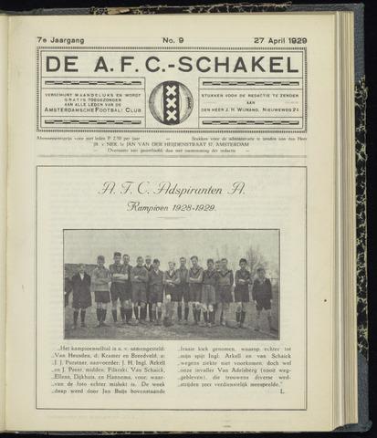 Schakels (clubbladen) 1929-04-27