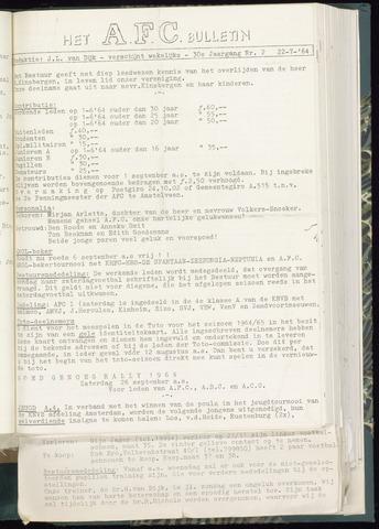 Bulletins (vnl. opstellingen) 1964-07-22