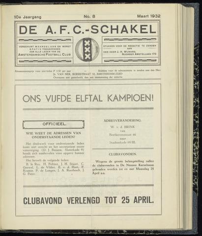 Schakels (clubbladen) 1932-03-01