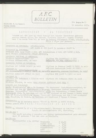 Bulletins (vnl. opstellingen) 1973-11-14