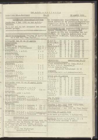 Bulletins (vnl. opstellingen) 1950-04-26