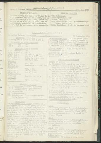 Bulletins (vnl. opstellingen) 1954-09-28