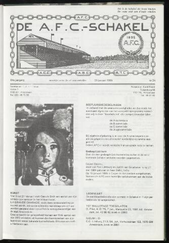 Schakels (clubbladen) 1985-01-23
