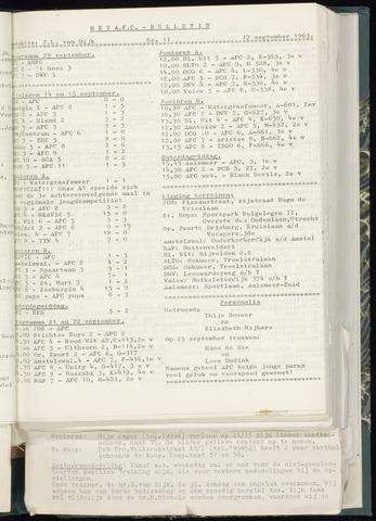 Bulletins (vnl. opstellingen) 1963-09-11