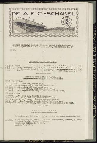 Schakels (clubbladen) 1942-04-16