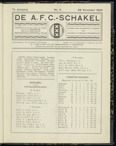 Schakels (clubbladen) 1928-11-29