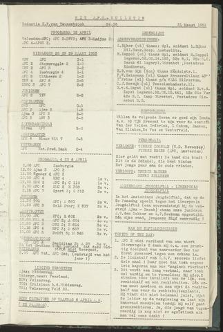 Bulletins (vnl. opstellingen) 1953-03-31