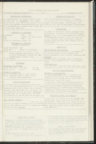 Bulletins (vnl. opstellingen) 1957-08-27