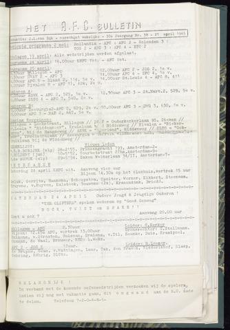 Bulletins (vnl. opstellingen) 1965-04-21