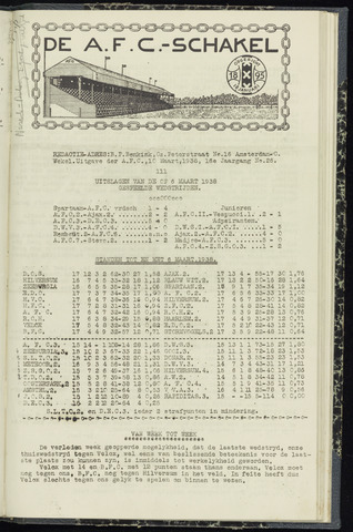 Schakels (clubbladen) 1938-03-10