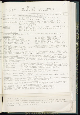 Bulletins (vnl. opstellingen) 1965-04-07