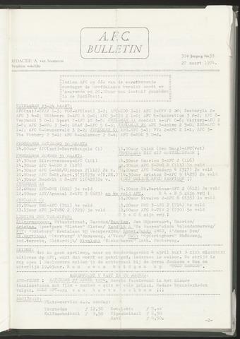 Bulletins (vnl. opstellingen) 1974-03-27