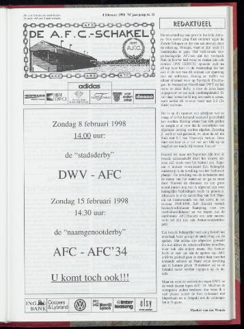 Schakels (clubbladen) 1998-02-04