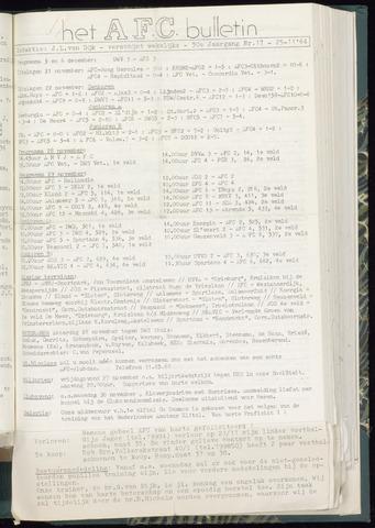 Bulletins (vnl. opstellingen) 1964-11-25