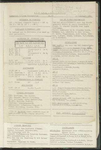Bulletins (vnl. opstellingen) 1953-02-10