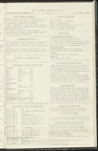 Bulletins (vnl. opstellingen) 1958-10-21