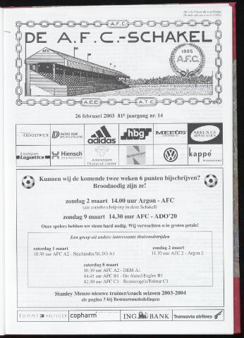 Schakels (clubbladen) 2003-02-26