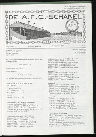 Schakels (clubbladen) 1981-09-02