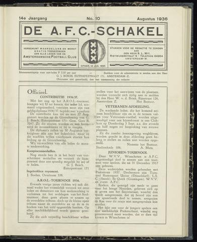 Schakels (clubbladen) 1936-08-01