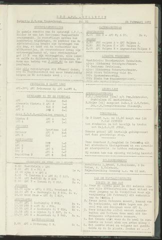 Bulletins (vnl. opstellingen) 1953-02-24