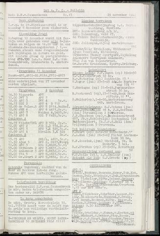 Bulletins (vnl. opstellingen) 1960-11-29