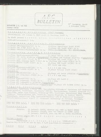Bulletins (vnl. opstellingen) 1972-02-02