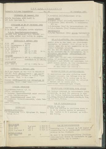 Bulletins (vnl. opstellingen) 1953-12-29