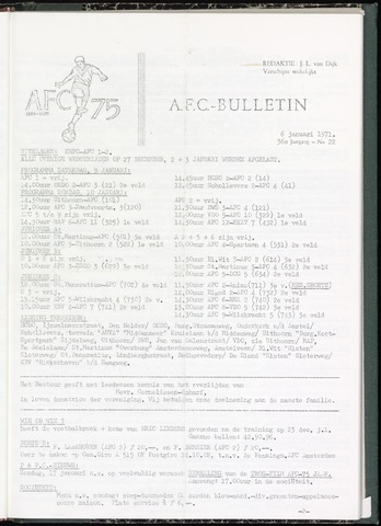 Bulletins (vnl. opstellingen) 1971-01-06
