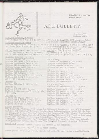 Bulletins (vnl. opstellingen) 1970-04-08