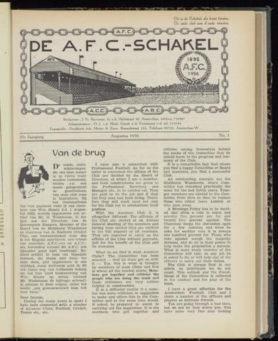 Schakels (clubbladen) 1956-08-01