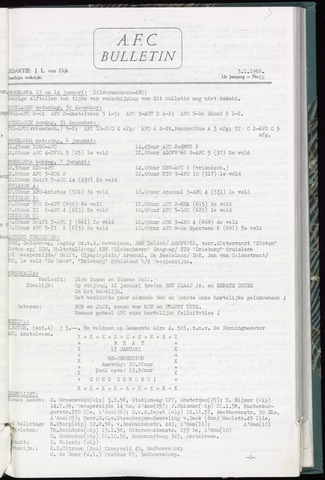 Bulletins (vnl. opstellingen) 1968