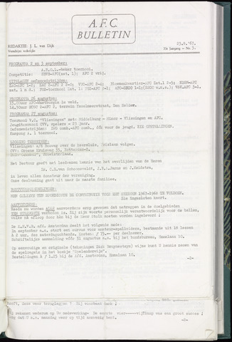 Bulletins (vnl. opstellingen) 1967-08-23