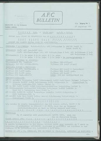 Bulletins (vnl. opstellingen) 1974-08-28