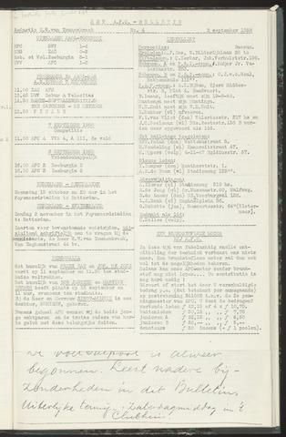 Bulletins (vnl. opstellingen) 1958-09-02
