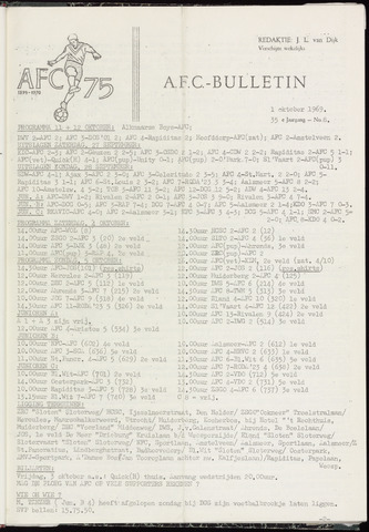 Bulletins (vnl. opstellingen) 1969-10-01