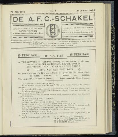 Schakels (clubbladen) 1929
