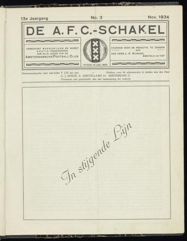 Schakels (clubbladen) 1934-11-01