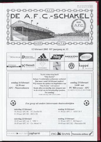Schakels (clubbladen) 2003-02-12