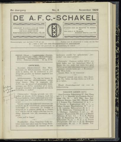 Schakels (clubbladen) 1929-11-01