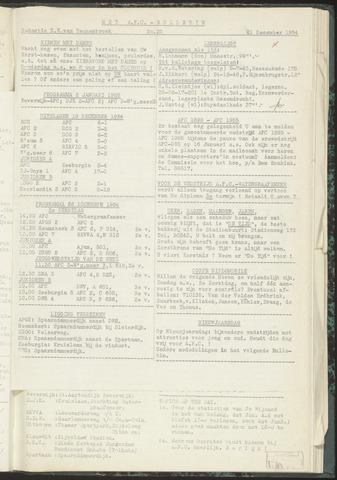 Bulletins (vnl. opstellingen) 1954-12-21