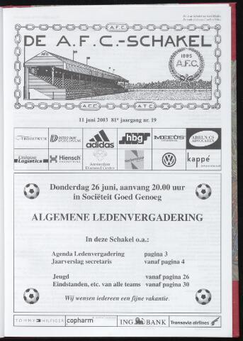 Schakels (clubbladen) 2003-06-11