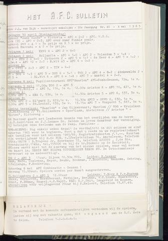 Bulletins (vnl. opstellingen) 1965-05-04