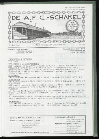 Schakels (clubbladen) 1977-09-28