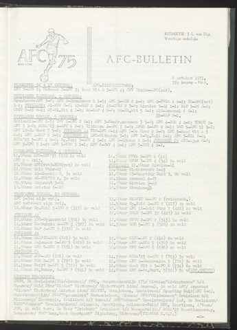 Bulletins (vnl. opstellingen) 1971-10-06